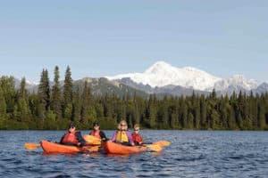 Alaska kayaking in Denali State Park
