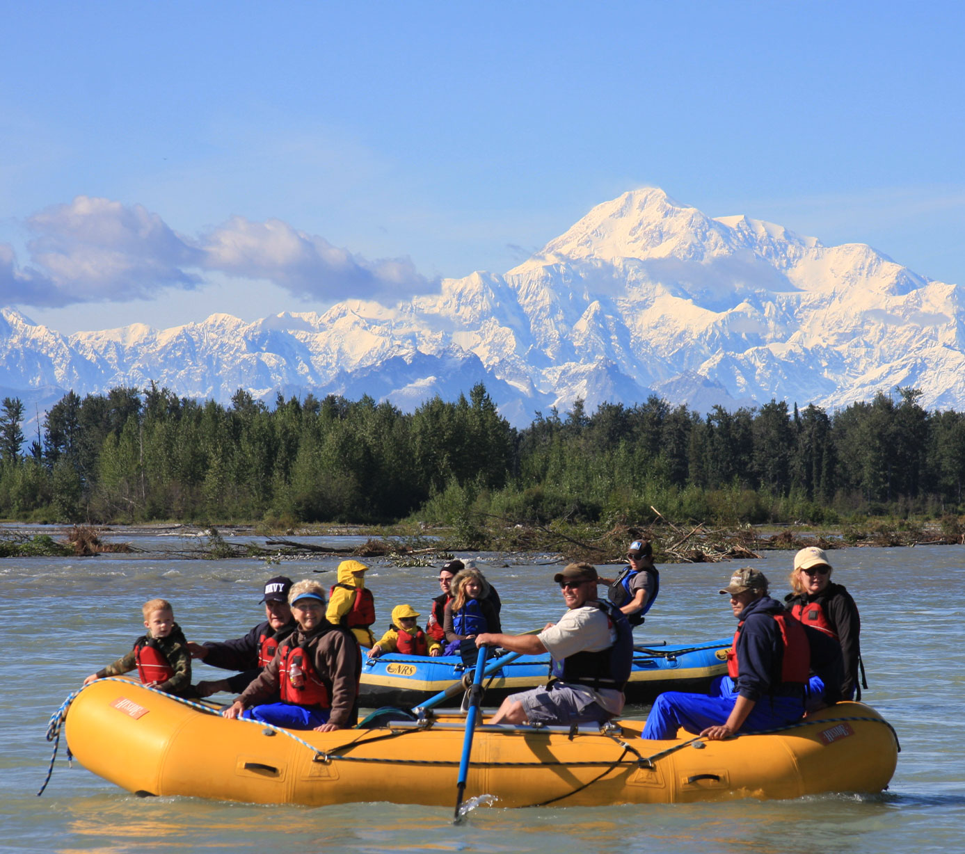 Guided rafting and kayaking tours on the Chulitna River in Denali Park, Alaska