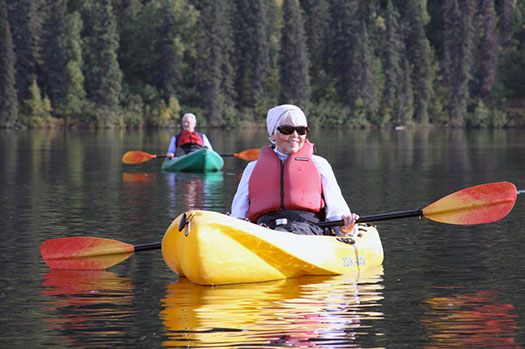 Guided Kayak Tours on Byers Lake