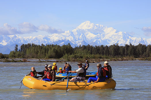 Float Raft Trip on Alaska Glacier River