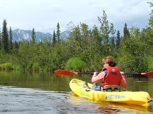 Kayak and Canoe Rentals in a single kayak